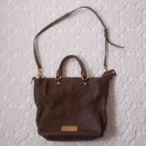 Marc Jacobs Brown Leather Crossbody Purse Satchel